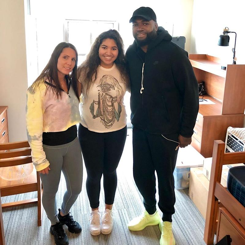 David Ortiz posts picture on Instagram dropping off daughter at college