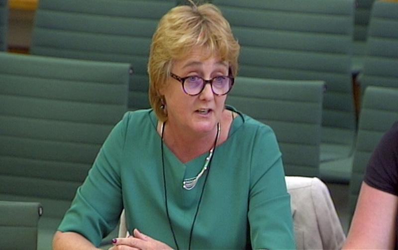 Christine Payne, General Secretary, Equity gives evidence to the Culture, Media and Sport committee in Portcullis House, London on the subject of the Future of the BBC.
