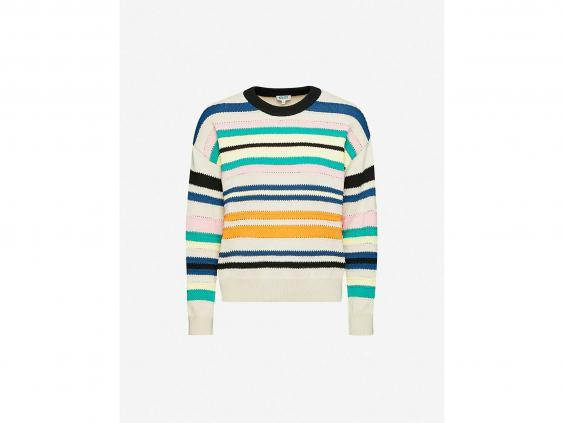 Knitwear like this fun jumper are great for layering (Selfridges)