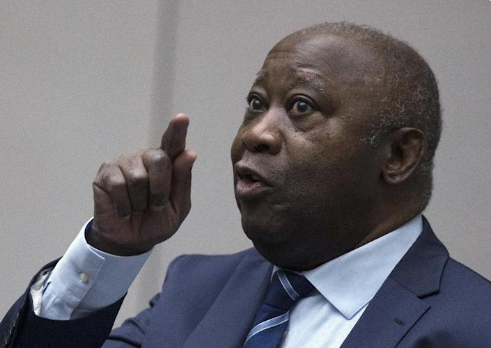 Acquitted: Former Ivory Coast president Laurent Gbagbo, pictured at the International Criminal Court on Tuesday (AFP Photo/Peter Dejong)