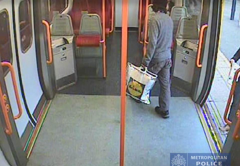 <em>Footage – the CCTV images show teenage asylum seeker Ahmed Hassan getting on a train at Sunbury station before the Parsons Green bomb was detonated</em>
