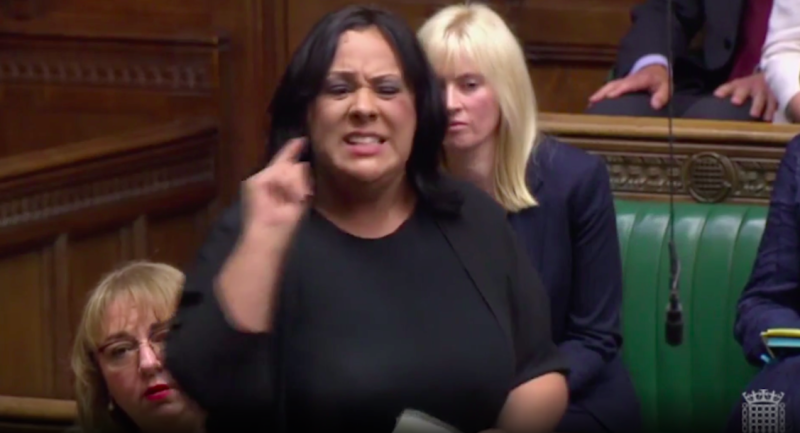 Labour MP Paula Sherriff criticised Boris Johnson for his use of the term 'Surrender Bill' (Grab)
