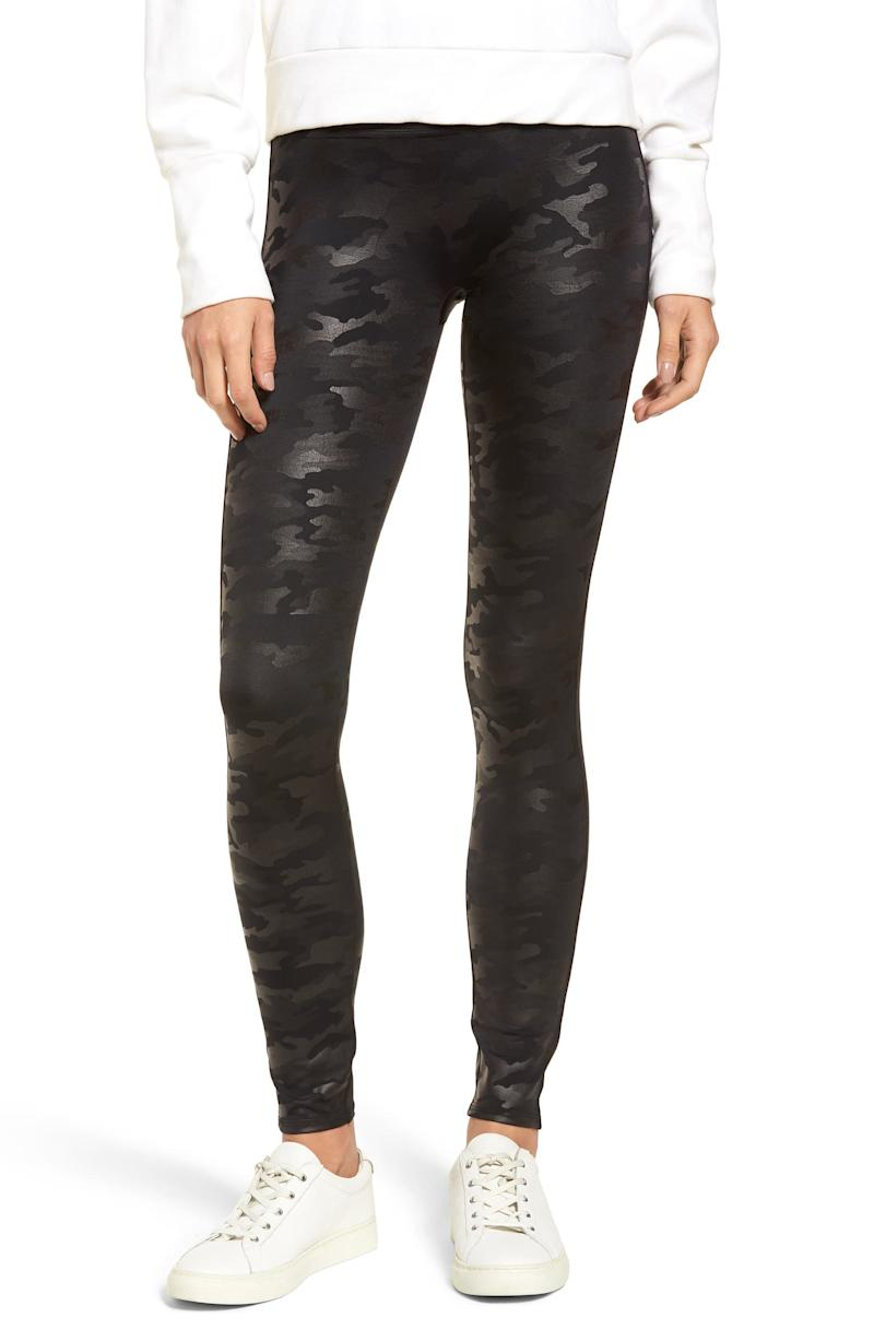 Faux Leather Camo Leggings. Image via Nordstrom.