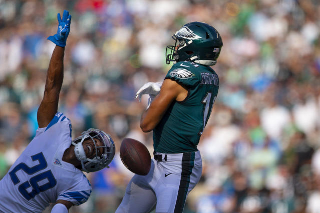 The Eagles were done in by drops against the Lions. (Photo by Mitchell Leff/Getty Images)