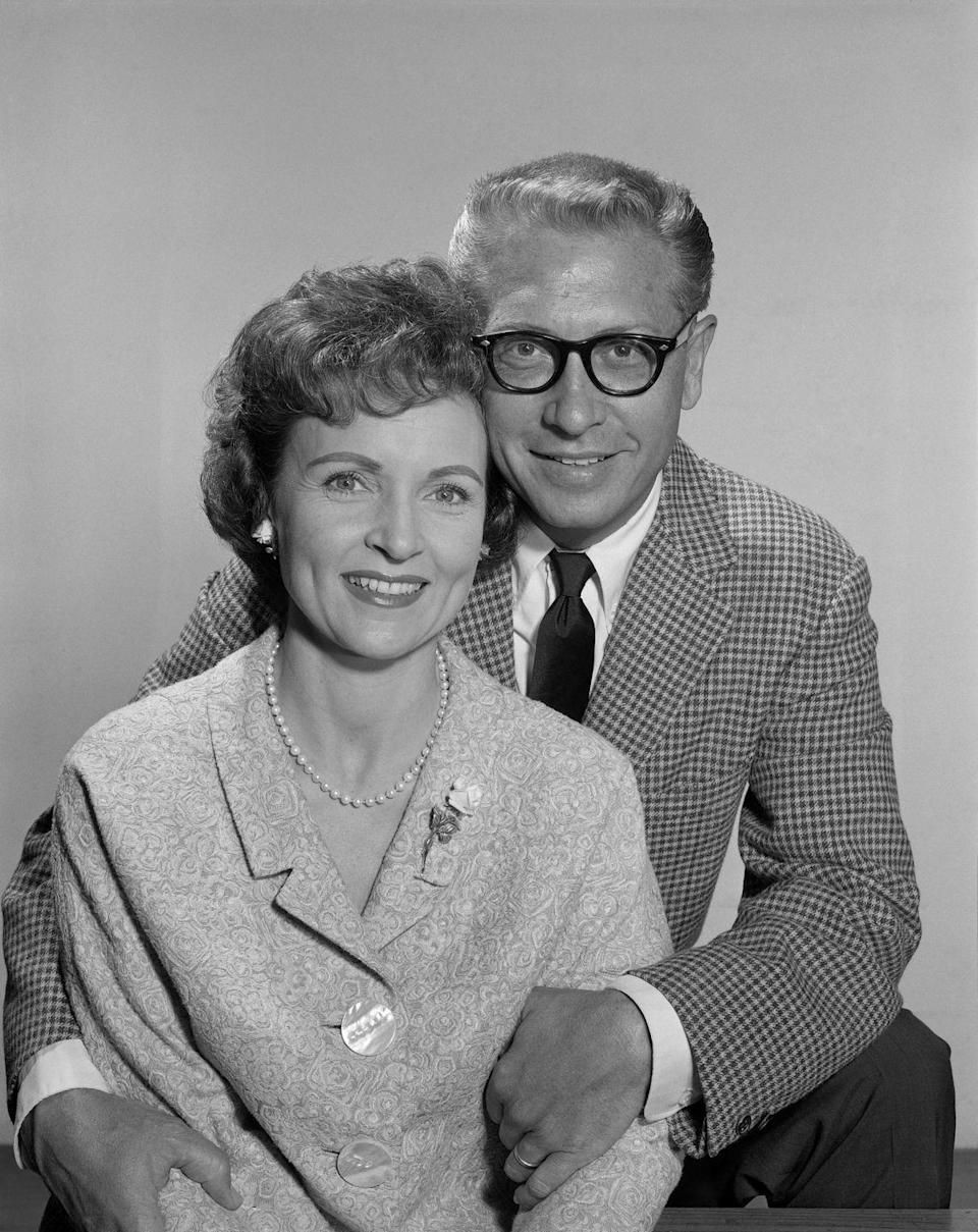 <p>In 1961, White met television host and personality, Allen Ludden, pictured here, when she was a celebrity guest on the show <em>Password</em>. In 1963, the couple got married, and she changed her name to Betty White Ludden. </p>
