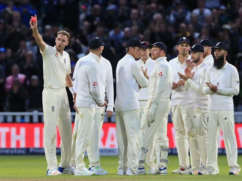 It was a historic day for Stuart Broad who surpassed Sir Ian Botham to take second place behind James Anderson in the national all-time list of Test wicket-takers: Getty