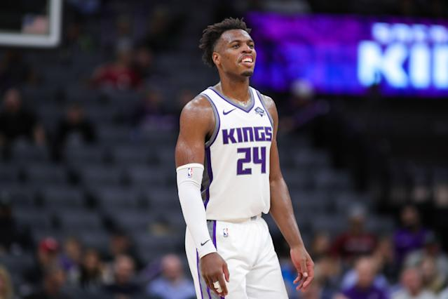 Buddy Hield and the Kings have reportedly agreed to a four-year contract extension. (Sergio Estrada-USA TODAY Sports)