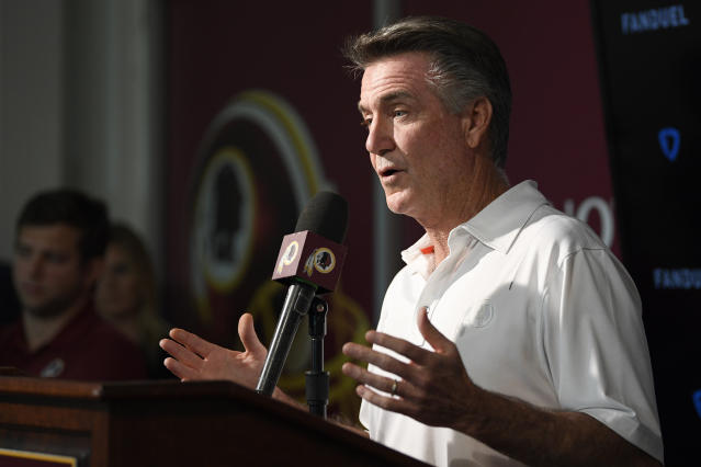 Washington president Bruce Allen is reportedly on the hot seat. (AP Photo/Nick Wass)