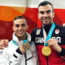 <p>Eric Radford Canada, figure skating<br> ericradford85: So proud to be wearing these medals and showing the world what we can do! #Represent️ #Olympics#pyeongchang2018 #Medalist#figureskating #figureskater #fabulous#proud #outathletes #TeamNorthAmerica (Photo via Instagram/ericradford85) </p>