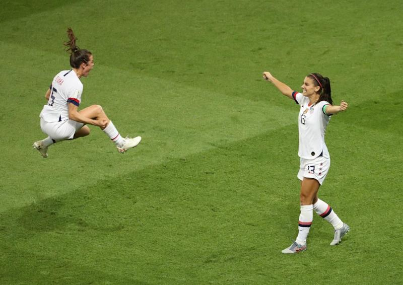 Airborne jubilation at the Women's World Cup: Rob Cianflone's best photograph
