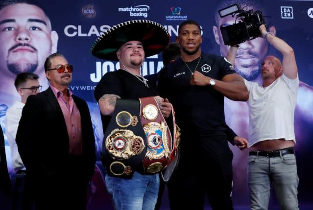 FILE PHOTO: Andy Ruiz Jr & Anthony Joshua Press Conference