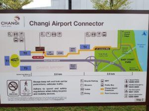 Map of the Changi Airport connector. Photo: GoCycling/Facebook