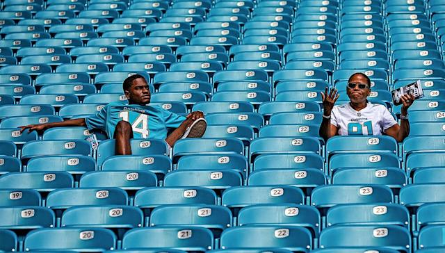 Less than a month into the season, the crowds at Hard Rock Stadium are already becoming sparse. | Rob Tringali