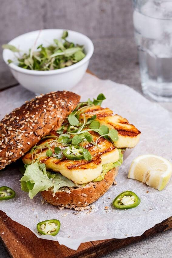 "<p>These healthy sandwiches will be a hit for the adventurous and veggie-forward family. Salty, milky halloumi gets perfectly charred when grilled and needs only a four-ingredient sauce to shine between bread.</p> <p><strong>Get the recipe:</strong> <a href=""https://simply-delicious-food.com/spicy-green-goddess-sandwich-with-grilled-halloumi/"" class=""link rapid-noclick-resp"" rel=""nofollow noopener"" target=""_blank"" data-ylk=""slk:green goddess sandwich with grilled halloumi"">green goddess sandwich with grilled halloumi</a></p>"