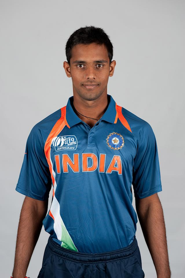 BRISBANE, AUSTRALIA - AUGUST 06:  Hanuman Vihari of India poses during a ICC U19 Cricket World Cup 2012 portrait session at Allan Border Field on August 6, 2012 in Brisbane, Australia.  (Photo by Matt Roberts-ICC/Getty Images)