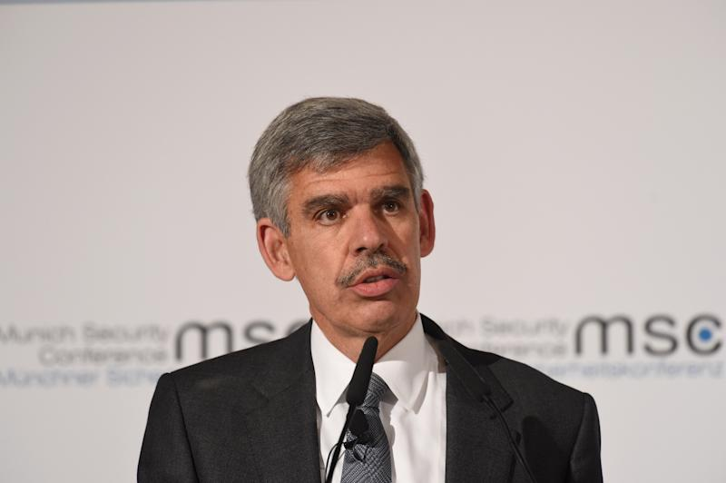 14 February 2020, Bavaria, Munich: Mohamed Aly El-Erian, former CEO of the Pacific Investment Management Company, speaks on the first day of the 56th Munich Security Conference. Photo: Felix Hörhager/dpa (Photo by Felix Hörhager/picture alliance via Getty Images)