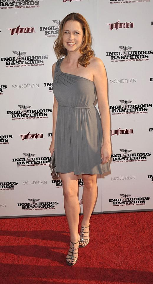 """<a href=""""http://movies.yahoo.com/movie/contributor/1804724172"""">Jenna Fischer</a> at the Los Angeles premiere of <a href=""""http://movies.yahoo.com/movie/1808404206/info"""">Inglourious Basterds</a> - 08/10/2009"""