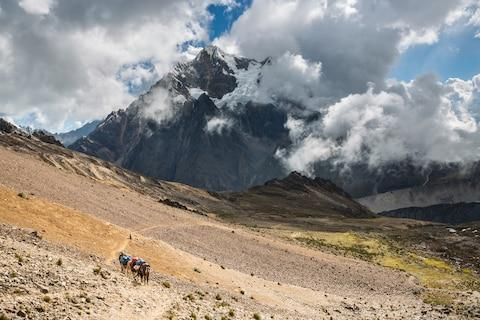The View from the top of the Frozen Inca Pass - Credit: Getty
