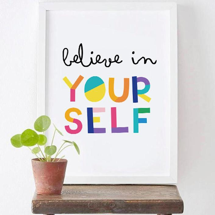 <p>The <span>Believe in Yourself Wall Decor</span> ($2, originally $5) is a reminder we all need.</p>