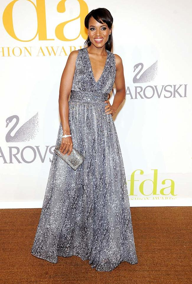 """Kerry Washington looked like a princess in her elegant Doo.Ri Resort gown. Jamie McCarthy/<a href=""""http://www.wireimage.com"""" target=""""new"""">WireImage.com</a> - June 15, 2009"""