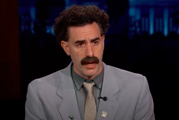 Sacha Baron Cohen refused to let Jimmy Kimmel ask any questionsYouTube