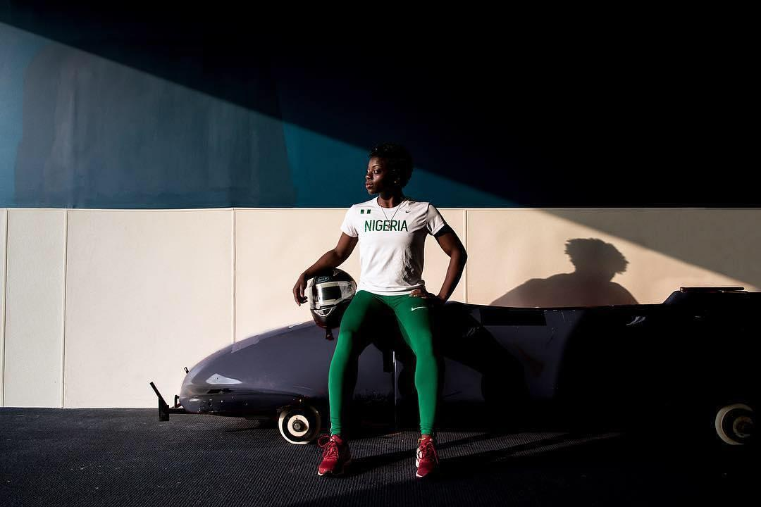 <p>Instagram spotlights Nigerian-American athlete Seun Adigun (@seun_msamazing) and her teammates. They're the first African bobsled team to qualify for the Winter Olympics.<br /><br />(Instagram/@Instagram) </p>