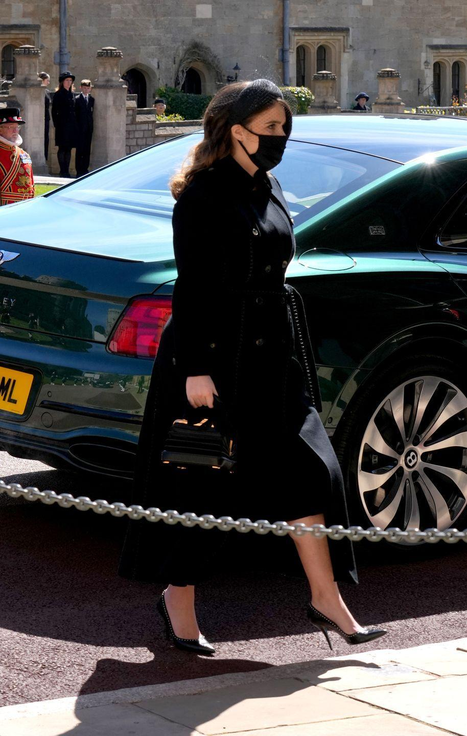 <p>Princess Eugenie arrives at the chapel. </p>