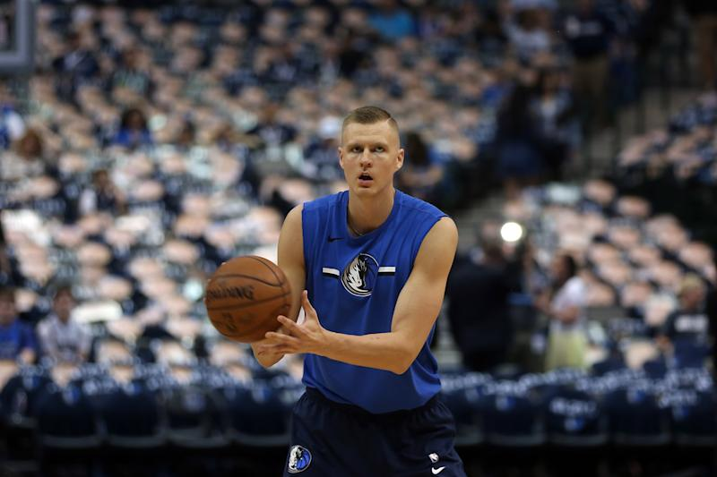 Kristaps Porzingis of Dallas Mavericks