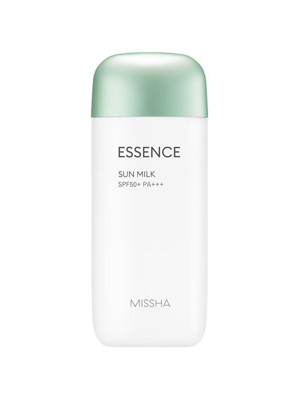 """<h3>Missha All Around Safe Block Essence Sun Milk SPF50+/PA+++</h3> <br>This fluid-thin formula quickly absorbs into skin while also offering impressive SPF 50 protection.<br><br><strong>Fan-Following Says</strong>: """"Love this sunscreen- works well under makeup, works on my sensitive skin, the application is a breeze, it's weightless and it has great protection. This worked perfectly for my entire family on a 9-day Disneyland trip, with temperatures in the 90's. FINALLY found the perfect sunscreen! Thank you for a great product.""""<br><br><strong>Missha</strong> All Around Safe Block Essence Sun Milk SPF50+/PA+++, $, available at <a href=""""https://go.skimresources.com/?id=30283X879131&url=https%3A%2F%2Fwww.misshaus.com%2Fdefault%2Fall-around-safe-block-essence-sun-milk-spf50-pa-70ml.html"""" rel=""""nofollow noopener"""" target=""""_blank"""" data-ylk=""""slk:Missha"""" class=""""link rapid-noclick-resp"""">Missha</a><br><br><br>"""