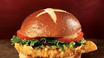 """<p>Yes, this is in fact the same caliber of a pub sandwich that you'll find at a local pub in Dublin, Ireland. This """"Fresh, Never Frozen"""" chain recently released their <a href=""""https://www.wendys.com/made-crave?utm_source=google&utm_medium=paid-search&utm_campaign=pretzel-bacon-pub&utm_term=mtc&utm_content=2020-08-pretzel-bacon-pub-wendys-pretzel-bacon-pub-is-a-new&gclid=CjwKCAjwiOv7BRBREiwAXHbv3G02MZPSS9c0-4JkuwXkAAud44AKQEZwr4aJun1aejXhS3bWzBqywxoCmScQAvD_BwE#chicken"""" rel=""""nofollow noopener"""" target=""""_blank"""" data-ylk=""""slk:Pretzel Bacon Pub Chicken Sandwich"""" class=""""link rapid-noclick-resp"""">Pretzel Bacon Pub Chicken Sandwich</a> and I hope they never remove it from the menu. Not only is the chicken crispy and juicy, but the unique condiments such as warm beer cheese sauce, applewood smoked bacon, smoky honey mustard and crispy fried onions just make it one-of-a-kind. And the best part? A pretzel bun, literally my dreams in the form of a sandwich. </p>"""