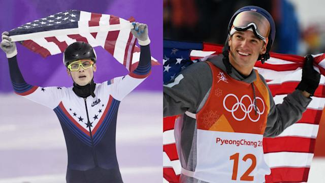 Pittsburgh-born speedskater John-Henry Krueger and Indiana's Nick Goepper both claimed silver medals.