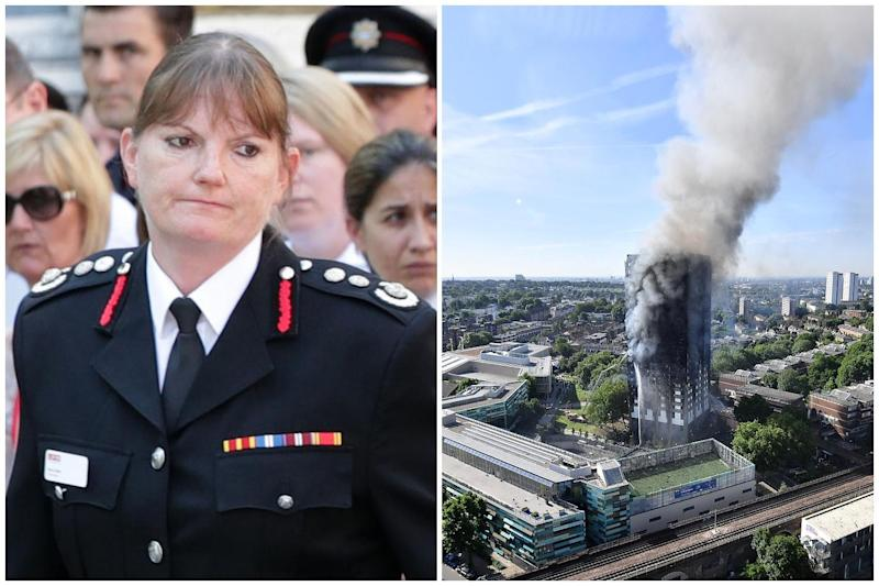 Commissioner Dany Cotton, left will step down earlier than expected after a public inquiry criticised the LFB's response to the Grenfell fire: Pa/ Getty Images