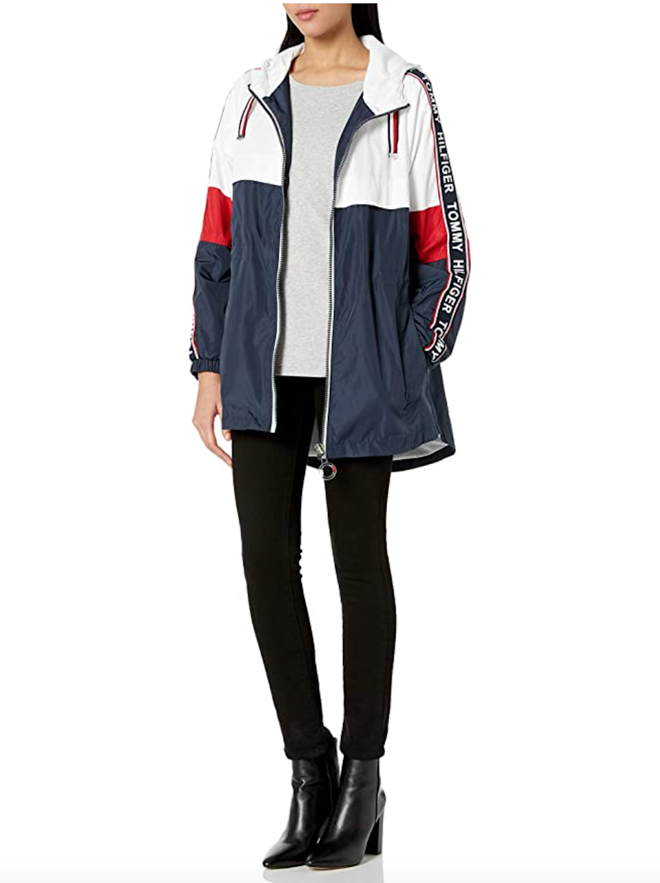 "<h2>Up To 30% Off Tommy Hilfiger</h2><br>Discount applies to select <a href=""https://amzn.to/34Webxu"" rel=""nofollow noopener"" target=""_blank"" data-ylk=""slk:Tommy Hilfiger shoes and apparel"" class=""link rapid-noclick-resp"">Tommy Hilfiger shoes and apparel</a>. <br><br><strong>Tommy Hilfiger</strong> Anorak Jacket with Logo Sleeve Taping, $, available at <a href=""https://amzn.to/3dlRBlM"" rel=""nofollow noopener"" target=""_blank"" data-ylk=""slk:Amazon Fashion"" class=""link rapid-noclick-resp"">Amazon Fashion</a>"