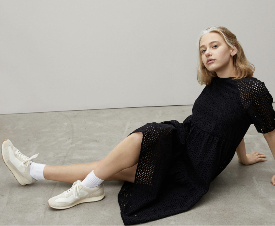The Tiered Eyelet Dress- Everlane.