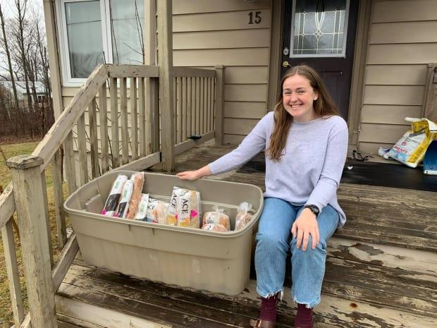 Emma Grove started Waste Free Wolfville, an initiative that aims to reduce food waste while also providing free food to those in need. (Submitted by Emma Grove - image credit)