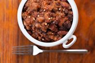 """Calico beans are a satisfying cross between chili, baked beans, and a sloppy joe filling. They're great for a potluck—or for meal prep for a busy week ahead. <a href=""""https://www.epicurious.com/recipes/food/views/slow-cooker-calico-beans?mbid=synd_yahoo_rss"""" rel=""""nofollow noopener"""" target=""""_blank"""" data-ylk=""""slk:See recipe."""" class=""""link rapid-noclick-resp"""">See recipe.</a>"""