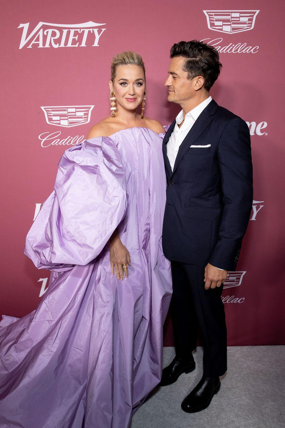 <p>The 'I Kissed A Girl' singer looked glorious in a billowing lilac-hued strapless dress for the event. The mother-of-one style her look with a pair of drop earrings and pulled her blonde hair back into a chic updo.<br></p><p>Accepting an award at the event, Perry said in her speech: 'Lest we forget, behind every great woman, there is a great man way to my beloved partner. And I'm sure whether I like it or not, Orlando, a man that is a friend and an ally to women all around the world. Thank you for handling the insanity of my life.'</p>