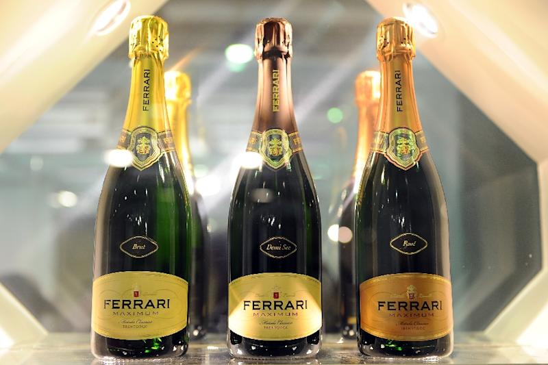 Ferrari sparkling wine is a wedding toast favourite and a perennial choice of Italian leaders seeking to impress visiting dignitaries (AFP Photo/Vincenzo Pinto)