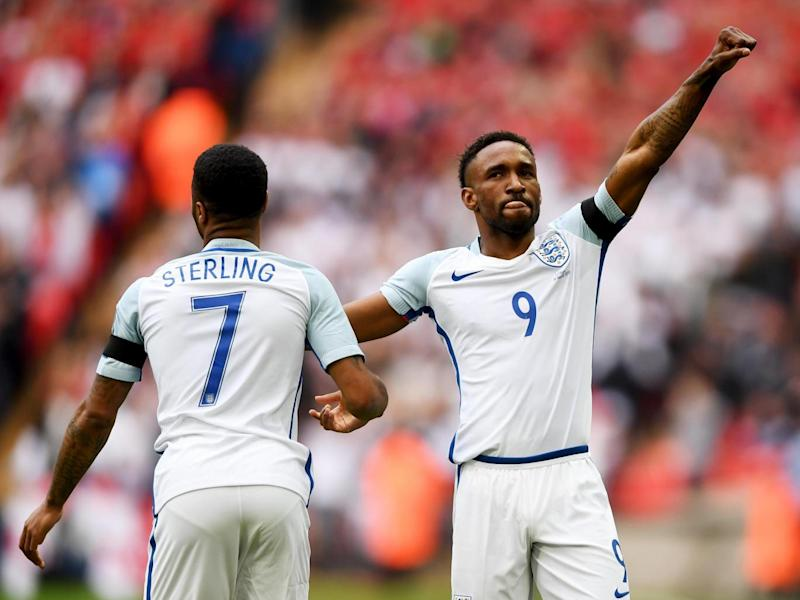 Defoe opened the scoring on his return to the England team (Getty)