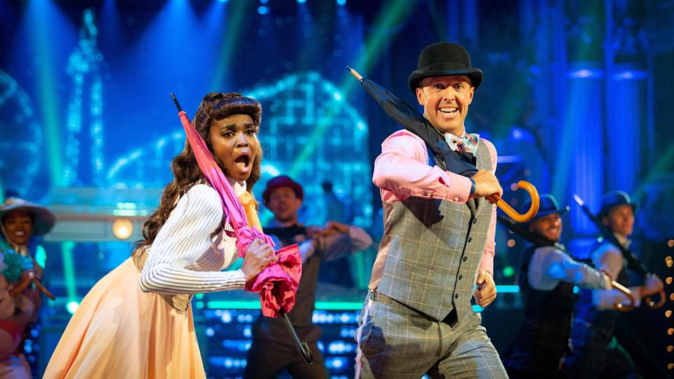 <p>The former cricketer and his professional partner Oti Mabuse were kicked off during Sunday's results show.</p>