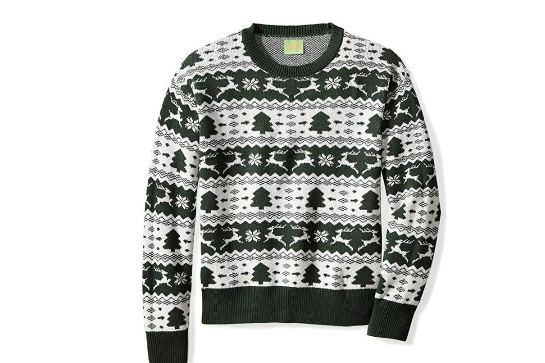 """<p><strong>BUY IT: $29.99; <em><a href=""""https://www.amazon.com/Ugly-Fair-Isle-Jacquard-Christmas/dp/B076HTNQ36/?ie=UTF8&camp=1789&creative=9325&linkCode=as2&creativeASIN=B076HTNQ36&tag=southlivin04-20&ascsubtag=d41d8cd98f00b204e9800998ecf8427e"""" target=""""_blank"""">amazon.com</a></em></strong></p> <p> Available in hunter green and red, this sweater is a good option to spread holiday cheer if you're not totally on board with the crazy Christmas sweater trend. </p>"""