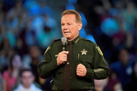 Broward County Sheriff Scott Israel speaks before the start of a CNN town hall meeting at the BB&T Center, in Sunrise, Florida, U.S. February 21, 2018.  REUTERS/Michael Laughlin/Pool/Files