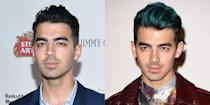<p>Clearly, Joe was feeling blue about his split from Gigi too. And he matched his mood to his....hair? How else can you explain his conveniently-timed dye job? </p>