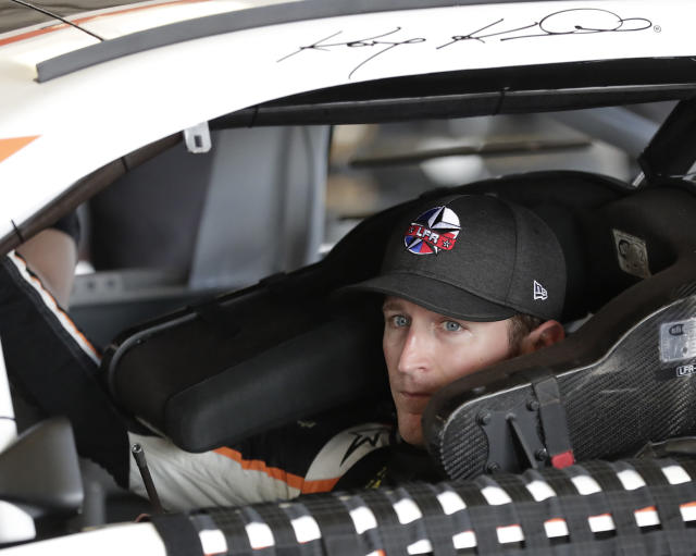 "<a class=""link rapid-noclick-resp"" href=""/nascar/sprint/drivers/396/"" data-ylk=""slk:Kasey Kahne"">Kasey Kahne</a> is set to miss Sunday's race after dealing with heat exhaustion at Darlington on Sunday. (AP Photo/John Raoux)"