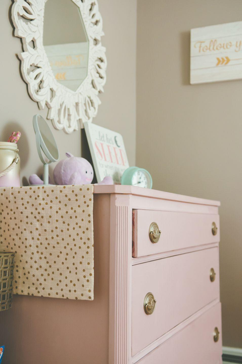 """<p>When it comes to furnishing a space for your youngster, it's always best to err on the side of caution, which is why you should always buy new items that are designed to be safe enough for kids' bedrooms and nurseries. If you purchase a thrifted piece, you can never be sure that it was created with little ones in mind. </p><p><strong>RELATED: </strong><a href=""""https://www.countryliving.com/shopping/antiques/news/g5036/joanna-gaines-antique-tips/"""" rel=""""nofollow noopener"""" target=""""_blank"""" data-ylk=""""slk:Antiques Joanna Gaines Always Hunts for at Flea Markets"""" class=""""link rapid-noclick-resp"""">Antiques Joanna Gaines Always Hunts for at Flea Markets</a></p>"""
