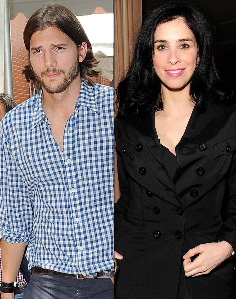 """Ashton Kutcher is """"secretly"""" turning to Sarah Silverman to help him prepare for """"Two and a Half Men,"""" reports the <i>National Enquirer</i>. The mag notes Kutcher's comedic timing is """"a tad rusty"""" since doing """"That 70s Show,"""" so Silverman is """"coaching him on the finer points of how to trigger [laughs] in hours-long, intense sessions."""" But that's not all. For how Kutcher's progressing, and what he's doing for Silverman in return, see what an insider reveals to <a href=""""http://www.gossipcop.com/ashton-kutcher-sarah-silverman-two-and-a-half-men-help-comedy-writing/"""" target=""""new"""">Gossip Cop</a>. Tamarra/<a href=""""http://www.gettyimages.com/"""" target=""""new"""">GettyImages.com</a>/Kevin Mazur/VF11/<a href=""""http://www.wireimage.com"""" target=""""new"""">WireImage.com</a>"""