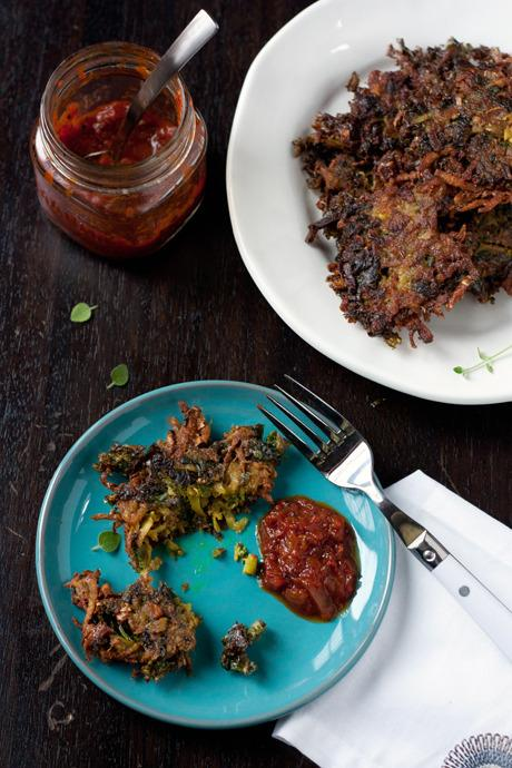 "<p>Kaela Porter of <a href=""http://localkitchenblog.com/"">Local Kitchen Blog</a> got the idea for these kale latkes from the bounty of New York's Hudson Valley, which Porter calls home. Additions of curry and cayenne pepper lends a fiery kick. <a href=""https://www.yahoo.com/food/kale-latkes-have-arrived-105409053456.html"">Get the recipe here</a>.<i> (Photo: Kaela Porter)</i><br /></p>"