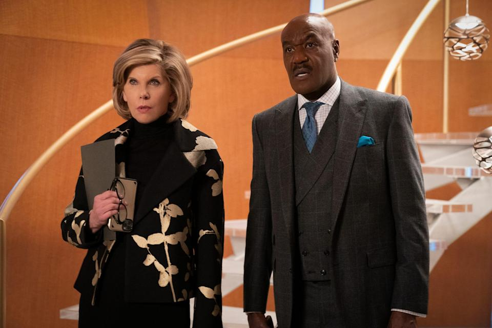 """The absurdity of the modern era is not lost on Diane Lockhart (Christine Baranski)and Adrian Boseman (Delroy Lindo) in CBS All Access's """"The Good Fight."""""""