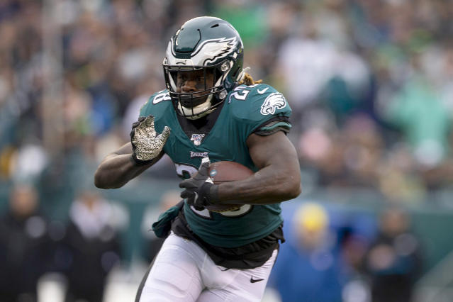 Jay Ajayi's brief return to the Eagles roster is reportedly over. (Mitchell Leff/Getty Images)