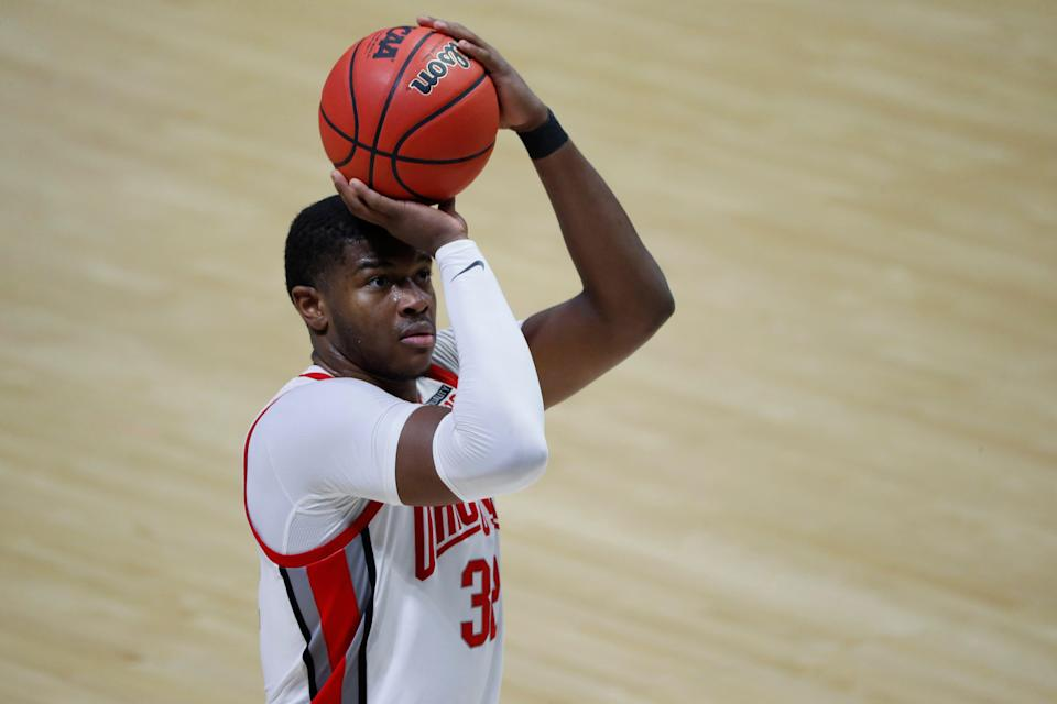 Ohio State's E.J. Liddell during the first round game against Oral Roberts.